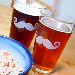 savvy housekeeping mustache glass