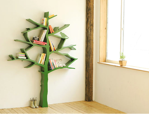 savvyhousekeeping tree bookshelf