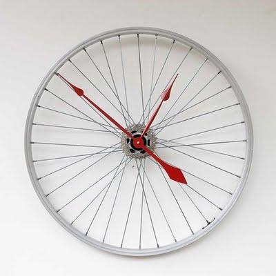 savvyhousekeeping bicycle wheel clock