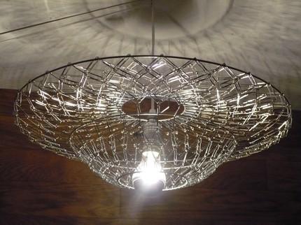 savvyhousekeeping paper clip chandelier