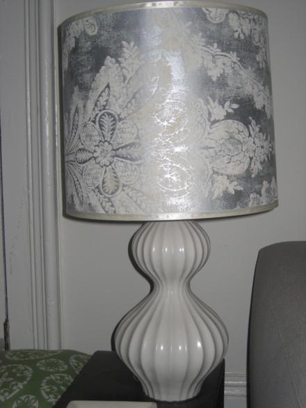 savvyhousekeeping wallpaper lampshade