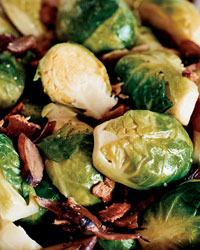 vegetable side brussels sprouts bacon