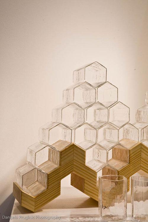 savvyhousekeeping honey comb glass set