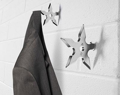 savvyhousekeeping ninja star wall coat hook cool