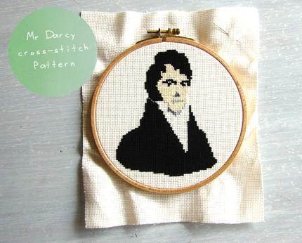 savvyhousekeeping mr darcy cross stitch
