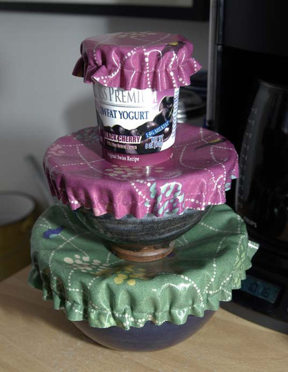 savvyhousekeeping reusable bowl covers reducing plastic syran wrap use