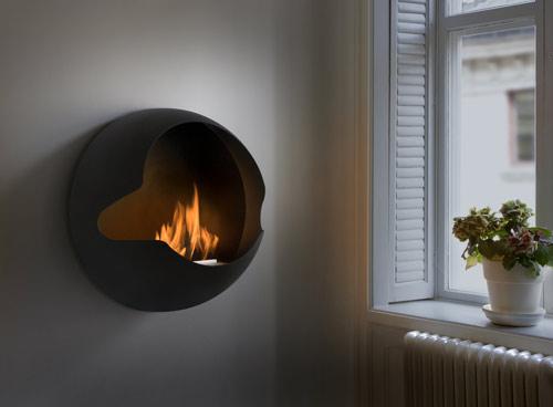 savvyhousekeeping wall mounted fireplace