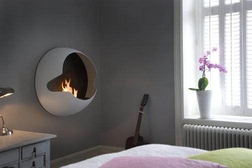 savvyhousekeeping wall-mounted fireplace