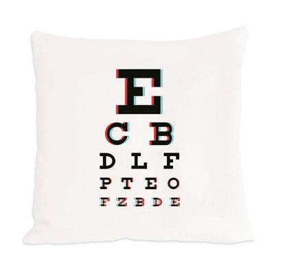 savvyhousekeeping eye chart pillow
