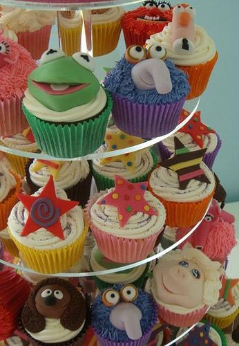 savvyhousekeeping muppet cupcakes