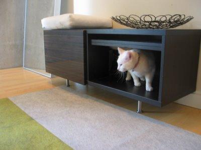 savvyhousekeeping IKEA cabinet convert to cat box hide diy