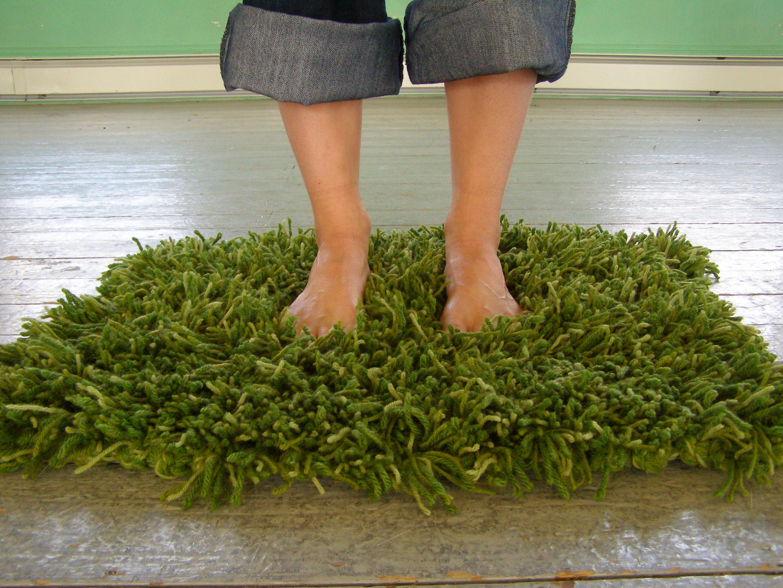 savvyhousekeeping knit a grass rug