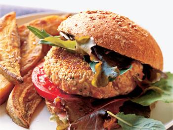 savvyhousekeeping Five Burger Recipes For Father's Day cheeseburger ham lamb veggies salmon