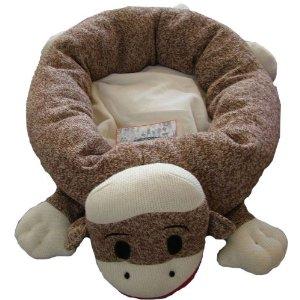 savvyhousekeeping sock monkey pet bed
