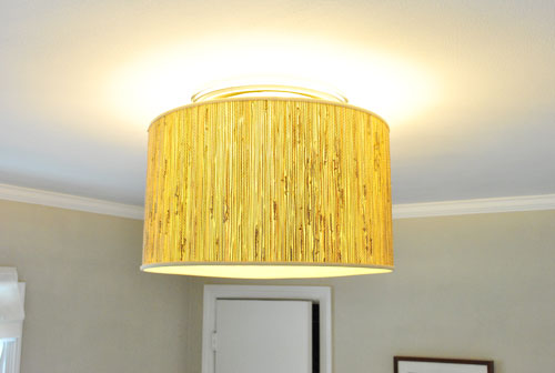 savvyhousekeeping make your own oversized lamp fixture from shade