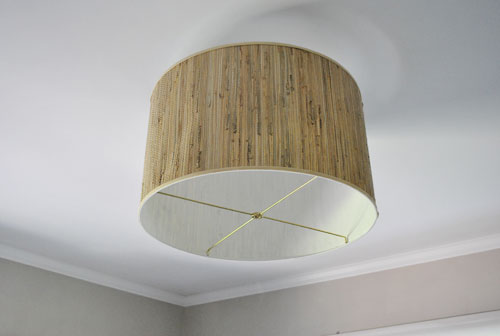 Diy ceiling lamp shade gradschoolfairs savvy housekeeping diy oversized lamp shade fixture aloadofball Gallery