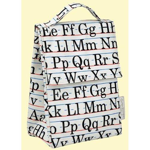 savvyhousekeeping vintage alphabet lunch sack