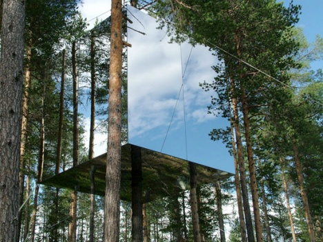 savvyhousekeeping invisible tree house hotel mirrorcube