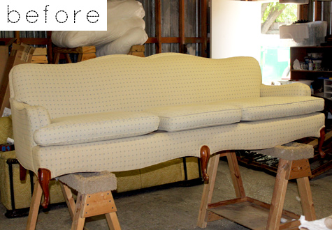 savvyhousekeeping duiker cool fabric upholstery sofa before and after red antelope
