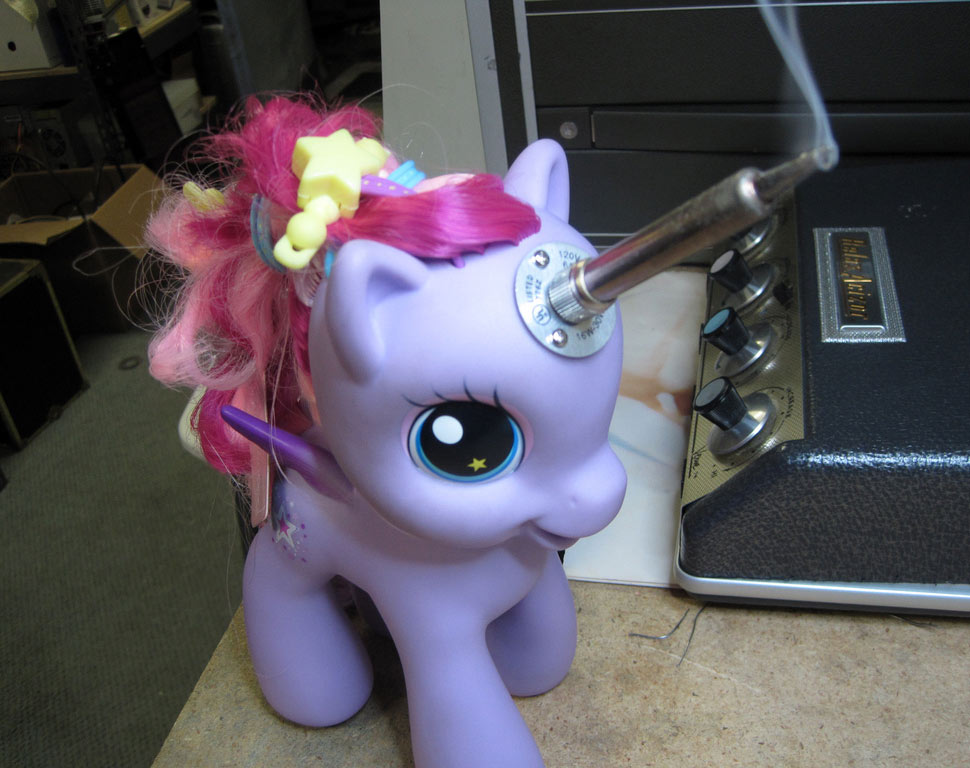 savvyhousekeeping my little pony soldering iron