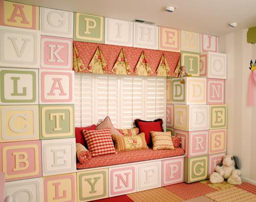 savvyhousekeeping kid's rooms children decoration alphabet blocks wall storage