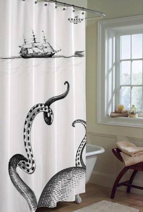 savvyhousekeeping kraken shower curtain