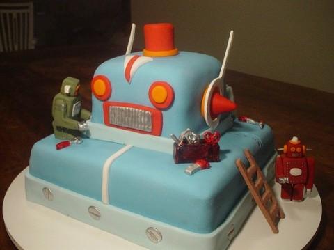 savvyhousekeeping robot cake