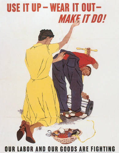 savvyhousekeeping wwii poster use it up make do frugality