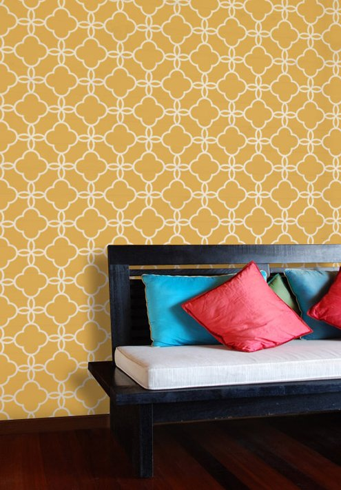 savvyhousekeeping Moroccan tile look for less stencils paint