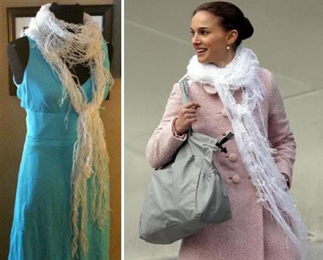 savvyhousekeeping make your own black swan scarf knitting natalie portman
