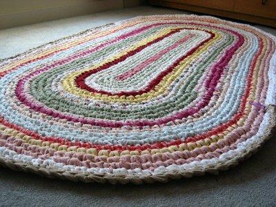 Crochet Rag Rug Oval Pattern Free
