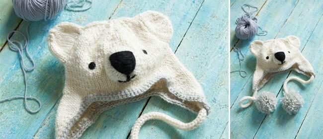 Savvyhousekeeping free knitting knit crochet pattern polar bear hat